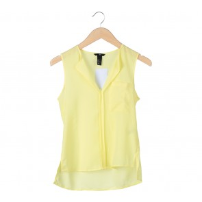 H&M Yellow Pocket Sleeveless