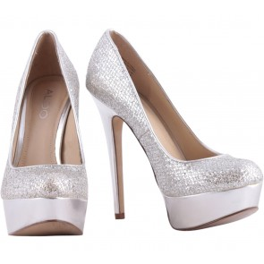 Aldo Silver Sequins Heels
