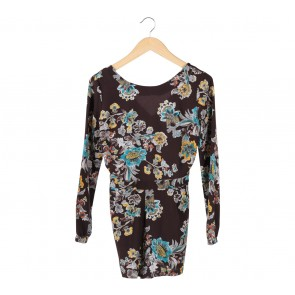 Pull & Bear Brown Floral Jumpsuit