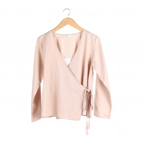 Shop At Velvet Cream Wrap Blouse