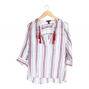 Mango Multi Colour Striped Blouse