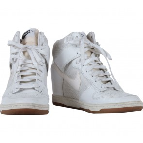 Nike White Sky High Mesh Wedge Sneakers