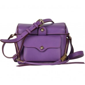 Rebecca Minkoff Purple Studded Sling Bag