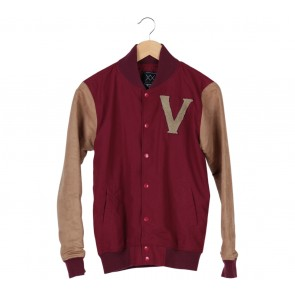 Vulkanix Red And Brown Jacket
