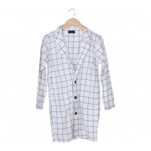 LOVA White Plaid Blazer