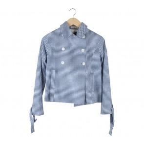 Argyle Oxford Blue And White Plaid Shirt
