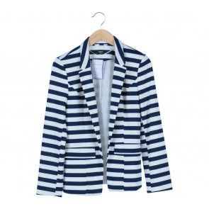 Oasis Blue And White Striped Blazer