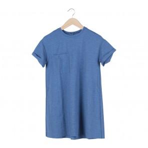 Zara Blue Pocket Mini Dress