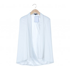 Look Boutique White Cape Blazer