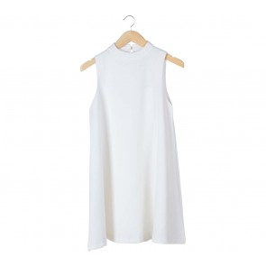 Look Boutique White Sleeveless Mini Dress