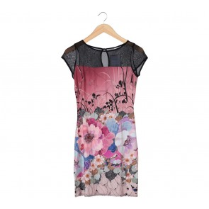 Wallis Multi Colour Floral Midi Dress
