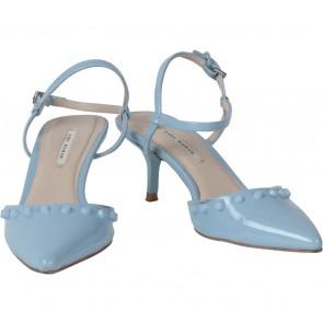 Zara Blue Studded Heels