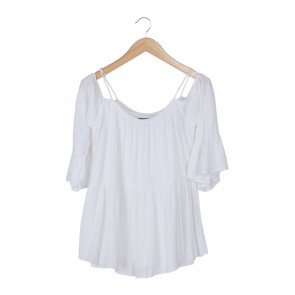 Herspot White Off Shoulder Blouse