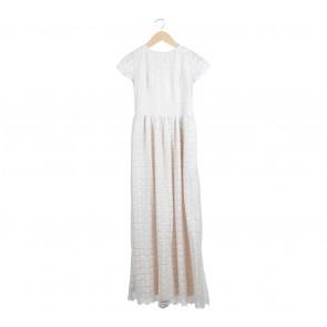 Shop At Velvet Cream Lace Long Dress