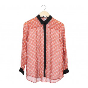 Cotton Ink Orange Floral Shirt