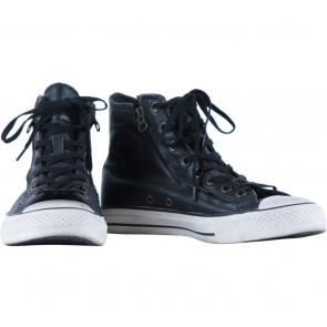 Converse Black High Top Leather Sneakers