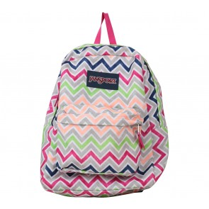 Jansport Multi Colour Zig-Zag Backpack