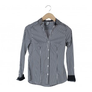 H&M Black And White Striped Shirt