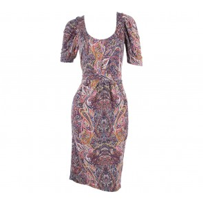 Zara Multi Colour Paisley Mini Dress