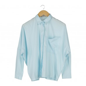Cotton Ink Blue Loose Shirt