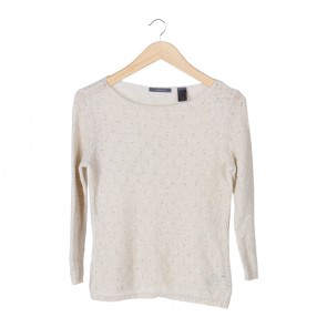 Liz Claiborne Cream Knit Sweater
