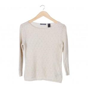 Liz Claiborne Cream Knit Sweater