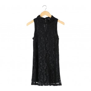 Forever 21 Black Floral Lace Sleeveless Mini Dress