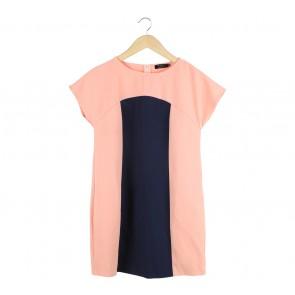 Ezra Dark Blue And Pink Mini Dress