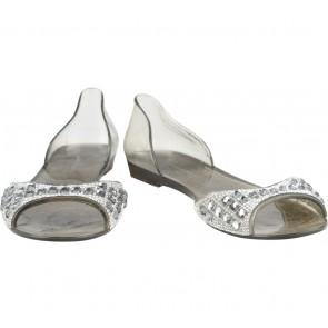 Anna Nucci Grey Embellished Flats