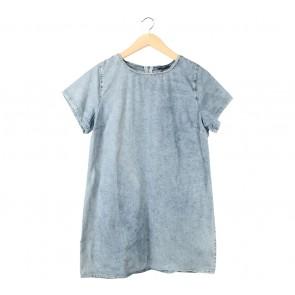 New Look Blue Denim Mini Dress
