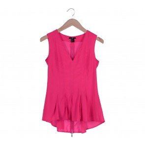 H&M Pink V-Neck Asymmetric  Sleeveless