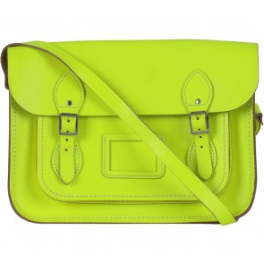The Cambridge Satchel Company Green Fluoro Neon Satchel
