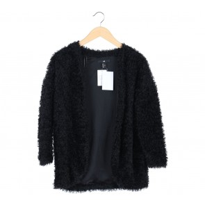 H&M Black Furry Coat