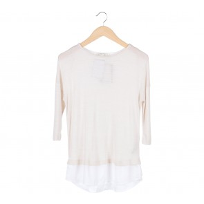 Stradivarius Cream Knitted Blouse
