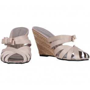 Heatwave Cream Ribbon Wedges