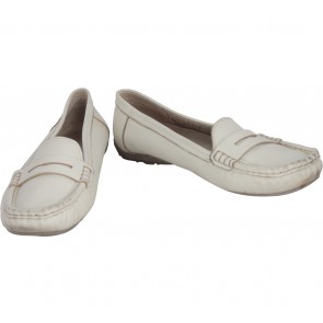 Hush Puppies Cream Flats