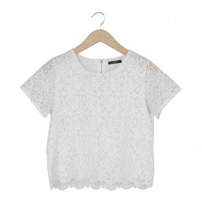 Icons Off White Lace See Thru Blouse