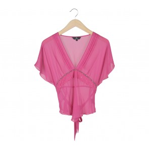 P.S Pink Tied Blouse