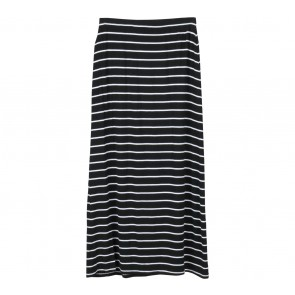 Cotton On Black And White Striped Skirt