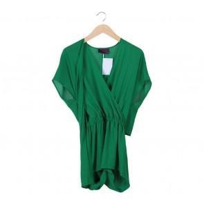Ardistia New York Green Halter Sleeveless Mini Dress