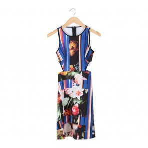 Clover Canyon Multi Colour Cut Out Mini Dress
