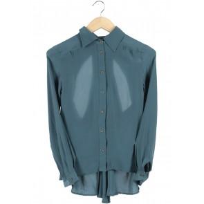 (X)SML Dark Blue Back Cut Out Shirt
