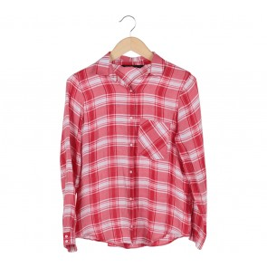 Zara Red Plaid Shirt