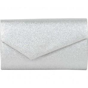 Accessorize Silver Glittery Clutch