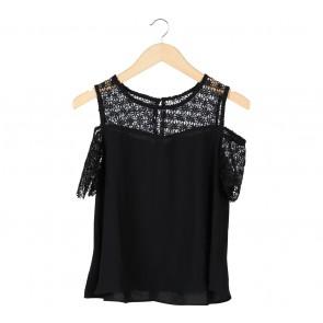 B.L.F Black Lace Cold Shoulder Blouse