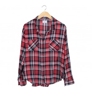 Cotton On Red Plaid Shirt