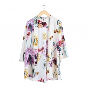 Ria Miranda Cream Floral Outerwear