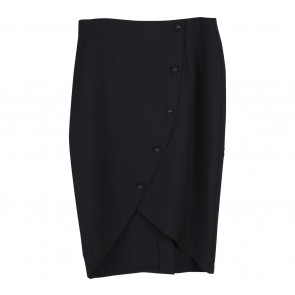 Zalora Black Wrap Midi Pencil Skirt