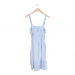 Zara   Blue Stripes Sleeveless Mini Dress