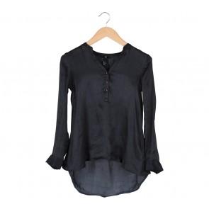 H&M Black Shimmer Blouse